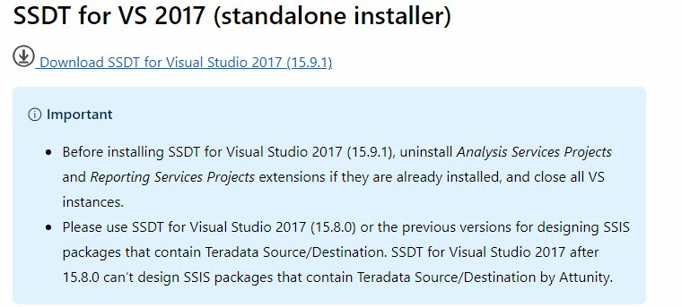 download ssdt for visual studio 2015 offline installer